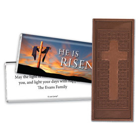 Personalized Easter Sunrise Embossed Chocolate Bar