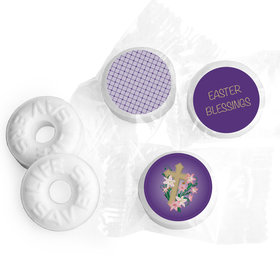 Easter Personalized Life Savers Mints Oval Cross with Lilies