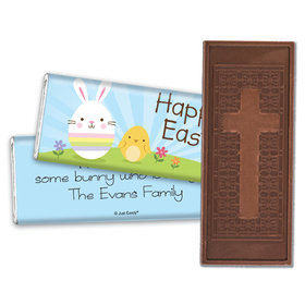 Personalized Easter Hanging With My Peeps Embossed Chocolate Bar