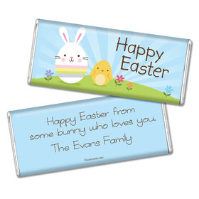 Easter Personalized Chocolate Bar Bunny and Chick Peeps