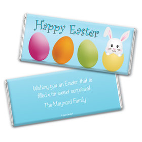 Funny Bunny Personalized Candy Bar - Wrapper Only