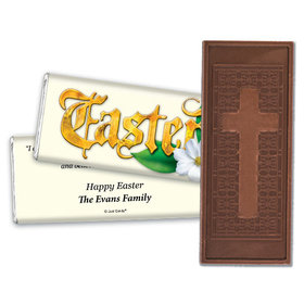 Personalized Easter Blessings Embossed Chocolate Bar