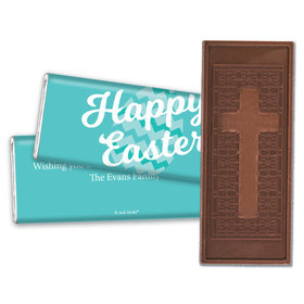 Personalized Easter Chevron Egg Embossed Chocolate Bar & Wrapper
