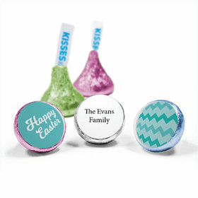 "Personalized Easter Chevron Egg 3/4"" Sticker (108 Stickers)"