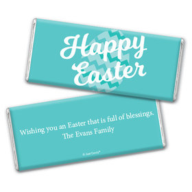 Personalized Easter Chevron Egg Chocolate Bar & Wrapper