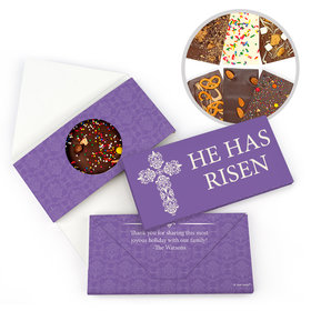 Personalized He Has Risen Easter Gourmet Infused Belgian Chocolate Bars (3.5oz)