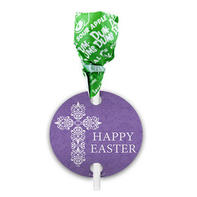 Easter Purple Cross Dum Dums with Gift Tag (75 pops)