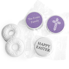 Personalized Easter Purple Cross Life Savers Mints