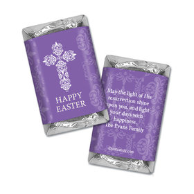 Personalized Easter Purple Cross Hershey's Miniatures