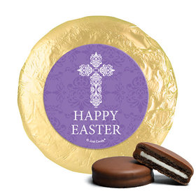 Personalized Easter Purple Cross Milk Chocolate Covered Oreos
