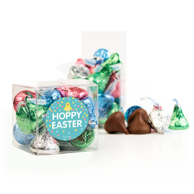 Easter Blue Chick Clear Gift Box with Sticker - Approx. 16 Spring Mix Hershey's Kisses