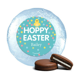 Personalized Easter Blue Chick Milk Chocolate Covered Oreos