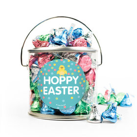 Easter Blue Chick Silver Paint Can with Sticker - 1lb Spring Mix Kisses