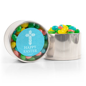 Easter Blue Cross Spring Mix Jelly Beans Medium Plastic Tin