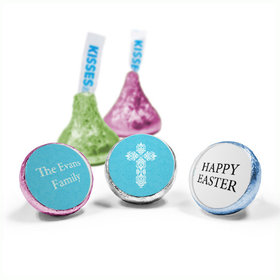 Personalized Easter Blue Cross Hershey's Kisses (50 Pack)
