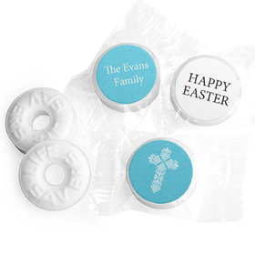 Personalized Easter Blue Cross Life Savers Mints