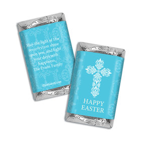 Personalized Easter Blue Cross Mini Wrappers