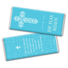 Personalized Easter Blue Cross Chocolate Bar Wrappers