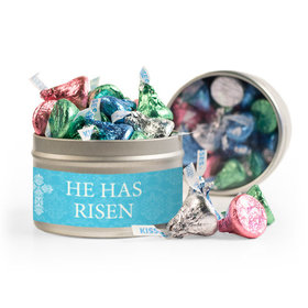 Easter Blue Cross 8oz Tin with Label