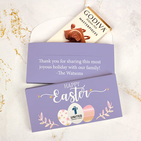 Deluxe Personalized Easter Egg Add Your Logo Godiva Chocolate Bar in Gift Box