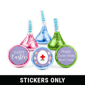 """Personalized 3/4"""" Stickers - Easter Egg Add Your Logo (108 Stickers)"""