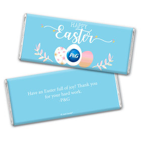 Personalized Easter Egg Add Your Logo Chocolate Bar & Wrapper