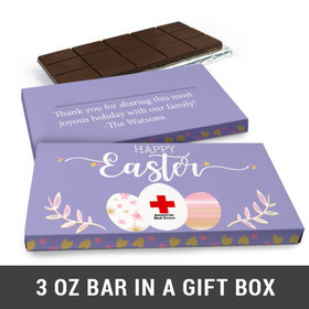 Deluxe Personalized Add Your Logo Easter Chocolate Bar in Gift Box (3oz Bar)