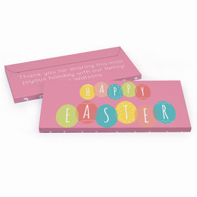 Deluxe Personalized Egg Party Easter Embossed Chocolate Bar in Gift Box