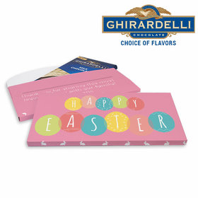 Deluxe Personalized Egg Party Easter Ghirardelli Chocolate Bar in Gift Box