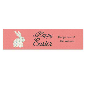 Personalized Easter Floral Bunny 5 Ft. Banner