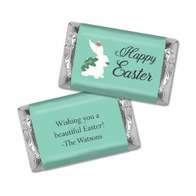 Personalized Hershey's Miniatures - Easter Floral Bunny