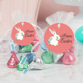 Easter Floral Bunny Hershey's Kisses in Organza Bags