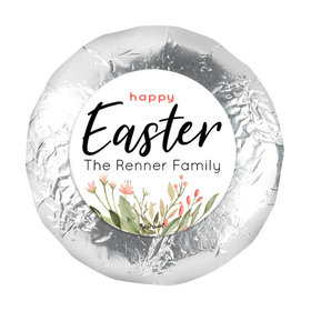 "Easter Flowers 1.25"" Stickers (48 Stickers)"