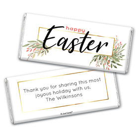 Personalized Easter Flowers Chocolate Bar Wrappers Only