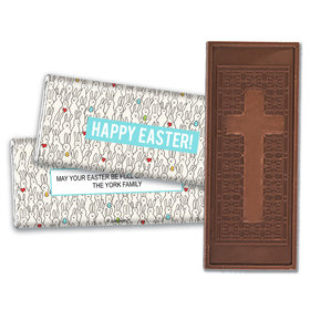 Personalized Easter Parade of Bunnies Embossed Chocolate Bars