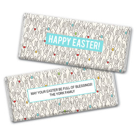 Personalized Easter Parade of Bunnies Chocolate Bar Wrappers Only