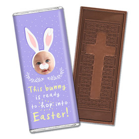 Personalized Easter Bunny Photo Embossed Chocolate Bars