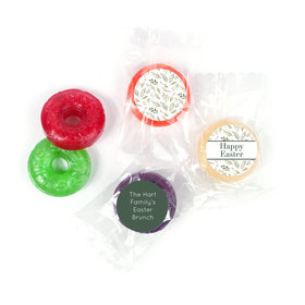 Personalized Easter Spring Greenery Life Savers 5 Flavor Hard Candy