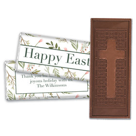 Personalized Easter Spring Greenery Embossed Chocolate Bars