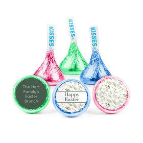 Personalized Easter Spring Greenery Hershey's Kisses (50 pack)