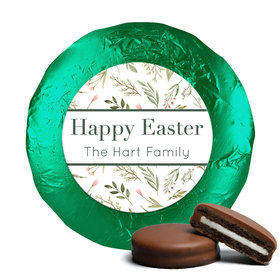 Personalized Easter Spring Greenery Chocolate Covered Oreos
