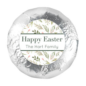 "Personalized Easter Spring Greenery 1.25"" Stickers (48 Stickers)"