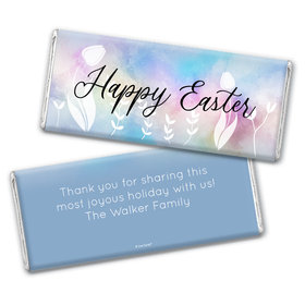 Personalized Easter Timeless Tulips Chocolate Bar Wrappers Only
