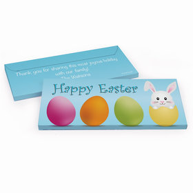 Deluxe Personalized Hatched a Bunny Easter Embossed Chocolate Bar in Gift Box