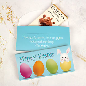 Deluxe Personalized Easter Hatched a Bunny Godiva Chocolate Bar in Gift Box