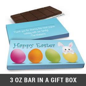 Deluxe Personalized Hatched a Bunny Easter Chocolate Bar in Gift Box (3oz Bar)
