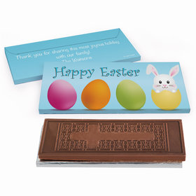 Deluxe Personalized Hatched a Bunny Easter Chocolate Bar in Gift Box