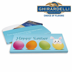 Deluxe Personalized Hatched a Bunny Easter Ghirardelli Chocolate Bar in Gift Box