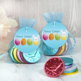 Easter Hatched an Egg Chocolate Coins in XS Organza Bags with Gift Tag