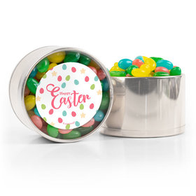 Easter Stars & Dots Spring Mix Jelly Beans Medium Plastic Tin